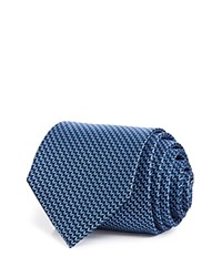 Bloomingdale's The Men's Store At Chevron Silk Classic Tie Navy