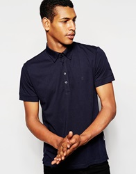 Peter Werth Jersey Polo Shirt Navy