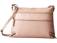 Elliott Lucca Mari 3 Zip Crossbody Fawn Cross Body Handbags Beige