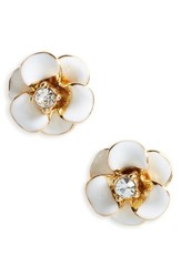 Kate Spade Women's New York Shine On Flower Stud Earrings White