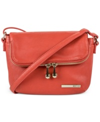 Kenneth Cole Reaction Handbag Wooster Street Foldover Flap Mini Bag Persimmon