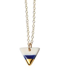 Brika Triangle Pendant Necklace Blue