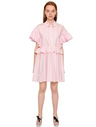 Vivetta Hands Ruffled Cotton Poplin Shirt Dress