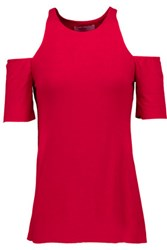 Bailey 44 Talladega Cutout Stretch Jersey Top Claret