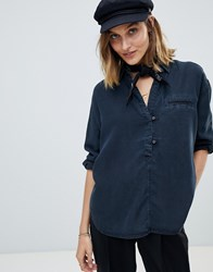 Maison Scotch Sailor Tencel Shirt Black