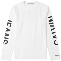 Calvin Klein Long Sleeve Institutional Tee White