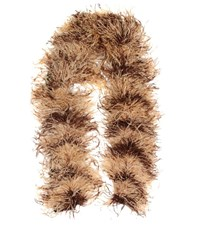 Miu Miu Feather Mohair And Wool Blend Scarf Beige