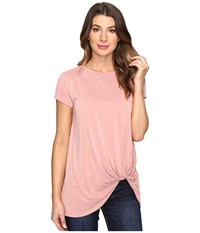 Brigitte Bailey Knot Front T Shirt Dust Pink Women's T Shirt Neutral