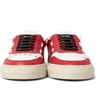 Givenchy Panelled Leather Sneakers Red