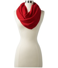 Calvin Klein Acrylic Infinity Rouge Scarves Red