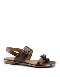 G.H. Bass Monica Leather Sandals Cafe