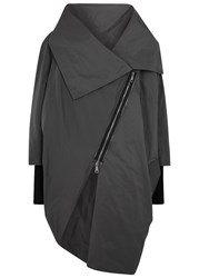 Crea Concept Grey Asymmetric Shell Jacket