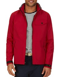 Nautica Solid Bomber Jacket Red