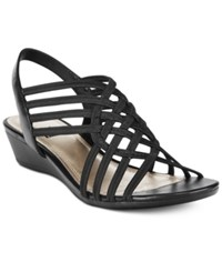 Impo Refresh Stretch Wedge Sandals Women's Shoes Black