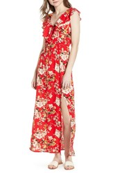 Soprano Ruffle Maxi Dress 483 Red