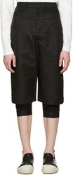 D.Gnak By Kang.D Black Layered Shorts