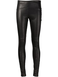 Getting Back To Square One Lambskin Leggings Black