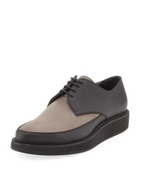 Lanvin Men's Suede And Leather Derby Creeper Gray