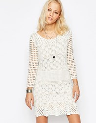 Only Heavy Lace Bodycon Dress Cloud Dancer White