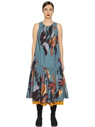 I'm Isola Marras Techno Crepe De Chine And Velvet Dress