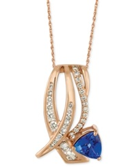 Le Vian Tanzanite 1 Ct. T.W. And Diamond 5 8 Ct. T.W. Pendant Necklace In 14K Rose Gold