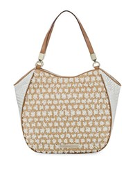 Brahmin Marianna Bora Leather Blend Tote White