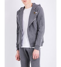The Kooples Badge Embroidered Cotton Hoody Gry23