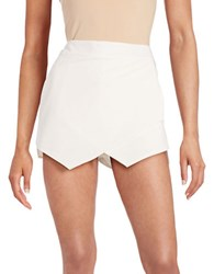 Design Lab Lord And Taylor Asymmetrical Skort White