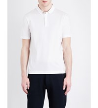 Armani Collezioni Stretch Cotton Polo Shirt Off White