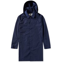 Mackintosh Nylon Hooded Mac Blue