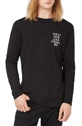 Topman Men's 2Pac Oversized Long Sleeve T Shirt