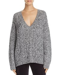 Vince Cable Knit V Neck Sweater Gray