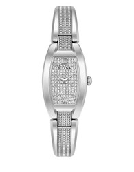 Bulova Analog Crystals Stainless Steel Watch Silver
