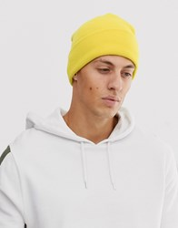 New Look Beanie In Bright Yellow