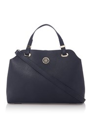 Tommy Hilfiger Novelty Core Satchel Bag Blue And White Blue And White