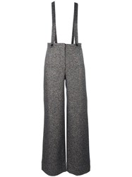 Roberto Collina Suspended Flared Trousers Grey