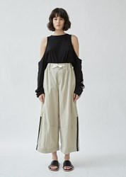 Y 3 Nylon Twill Wide Pant Salty Champagne