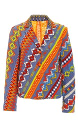 Tory Burch Embroidered Clemente Blazer Print