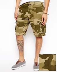 Asos Cargo Shorts In Heavy Twill With Belt In Longer Length Khaki
