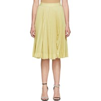 Calvin Klein 205W39nyc Yellow Pleated Rip Skirt