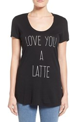 Women's Signorelli Screen Print Scoop Neck Tee Black Latte