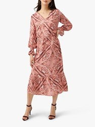 Pure Collection Georgette Midi Dress Scarf Print