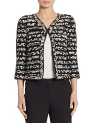 Edward Achour Specked Wool Tweed Jacket Black