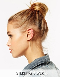 Asos Sterling Silver Ear Cuff Multipack Mixedmetal
