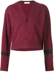 Toga Striped Sleeves Cardigan Red