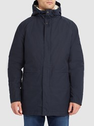 Norse Projects Navy Lindisfarne Sherpa Lined Parka Blue