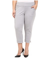 Jag Jeans Plus Size Marion Crop In Bay Twill Grey Morn Women's Casual Pants Beige