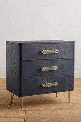 Anthropologie Odetta Three Drawer Dresser Navy