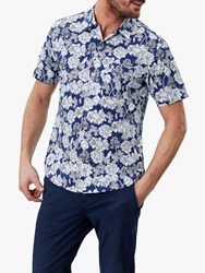Joules Revere Floral Print Shirt Navy