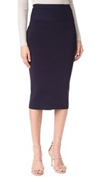 Dion Lee Rib Pencil Skirt Navy